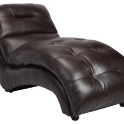 Reclining Chair With Ottoman Leather Dining Covers Cape Town Charlotte Faux Lounge Chaise - Contemporary Indoor Chairs By Furniture ...