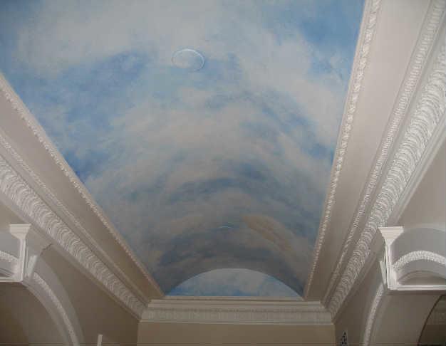 Faux Painted Sky Ceiling in Holmdel, NJ