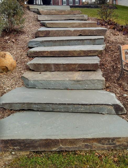 chantilly - boulder steps flagstone
