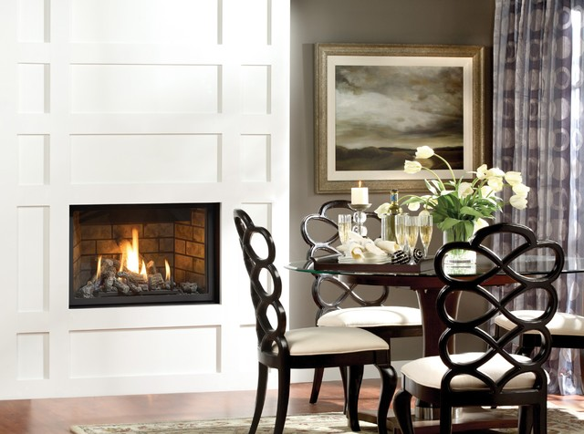 Marquis Solara Gas Fireplace Modern Dining Room