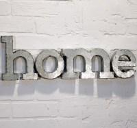 "Metal Word Wall Art - ""Home"" - Miami - by Antique Farmhouse"