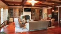 Living Rooms Vaulted Ceiling Stained Wood - Traditional ...