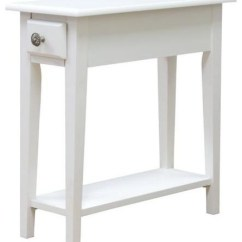 Chair Side Tables With Storage Revolving Price In Ludhiana Table Queen White Transitional And End By Megahome
