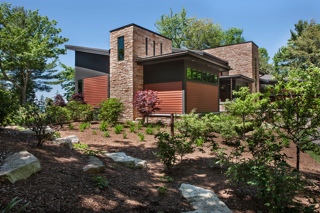 Modern Prairie Style Lake Home transitional-exterior