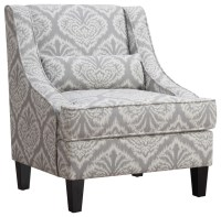 Accent Seating Jacquard Patterned Accent Chair ...