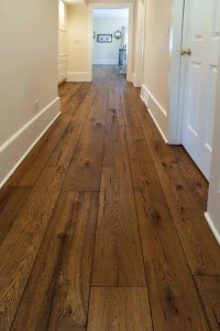 Antique Resawn Oak Hardwood Flooring - Traditional - Hall ...