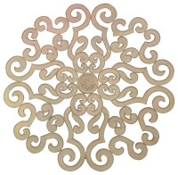 "38"" Large White Scroll Wall Medallion 
