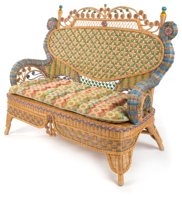 childs rattan chair covers in kampala lake house settee mackenzie eclectic outdoor sofas other by