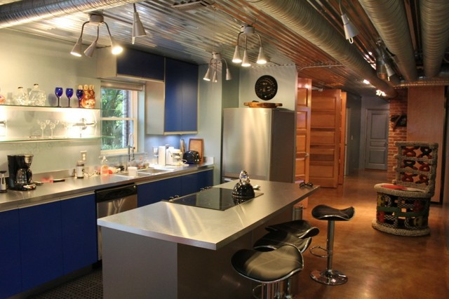 bi fold kitchen cabinet doors refinish cabinets piedmont park basement apartments - contemporary ...