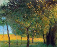 "OverstockArt - Klimt ""Fruit Trees, 1901 (Luxury Line)"" Oil ..."