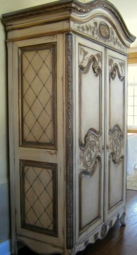 Hand Painted French Country Armoire - Traditional ...