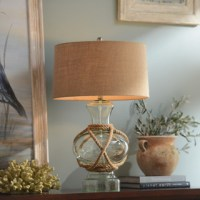 Woven Glass Table Lamp - Beach Style - Table Lamps ...