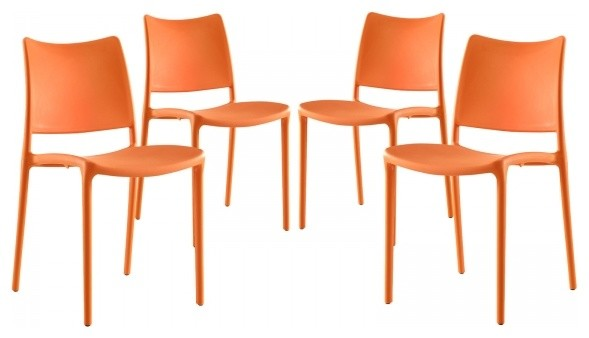 orange side chair modern hipster dining set of 4 contemporary outdoor chairs by xomart