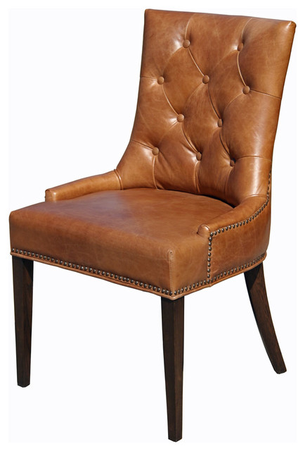 leather dining chairs plywood lounge chair top grain traditional by antique brown