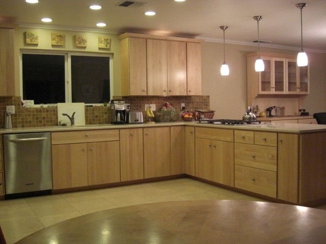 Modern Natural Maple Modern Kitchen Sacramento By