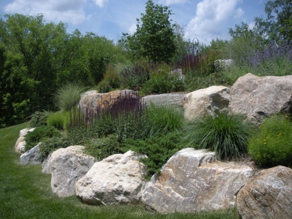 hillside issues set boulders