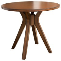 GDFStudio - Noel Round Counter Height Solid Wood Dining ...