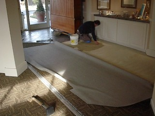 Commercial Carpet Installation - Glue-down carpet photos