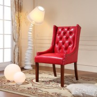 Royal Comfort Martis Red Faux Leather Luxury Arm Chair ...