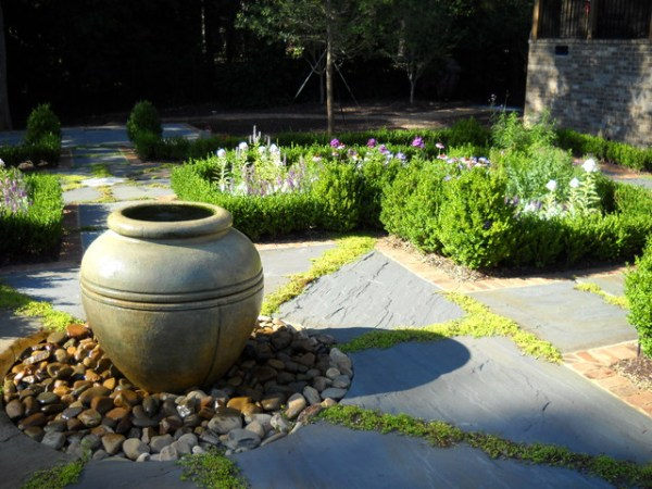 urn bubbler fountain - traditional