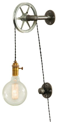 West Ninth Vintage Steel Pulley Wall Light - Wall Sconces ...
