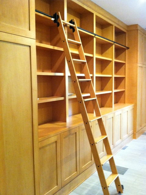 high ceiling living room decor ideas contemporary colors for paint library cabinets with rolling ladder - modern ...