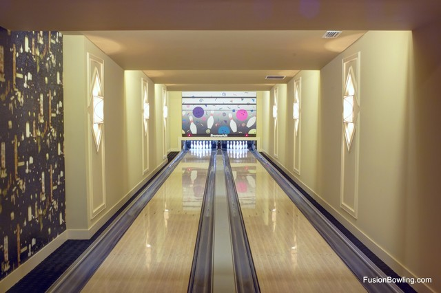 Private Basement Bowling Alley Lanes on Horse Farm Estate
