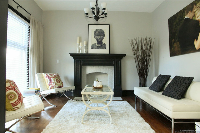 Refinished Victorian  Contemporary  Living Room  Toronto