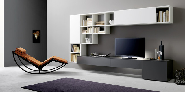 TV Unit And Bookcase Sangiacomo Italy  Modern  Home