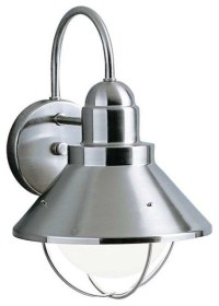 Kichler Outdoor Wall Light, Black With Incandescent ...