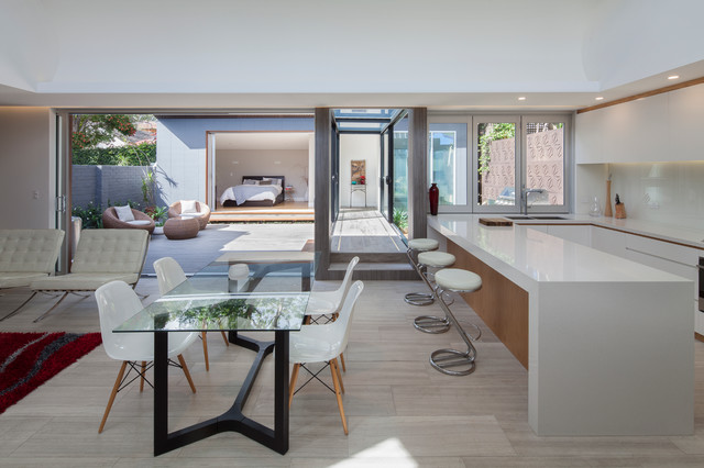 Open Plan Kitchen, Dining, Living By