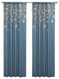 Flower Drops Window Curtain - Curtains - by Lush Decor