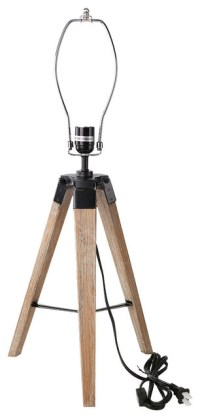 Old Wood Tripod Table Lamp Stand - Industrial - Desk Lamps ...