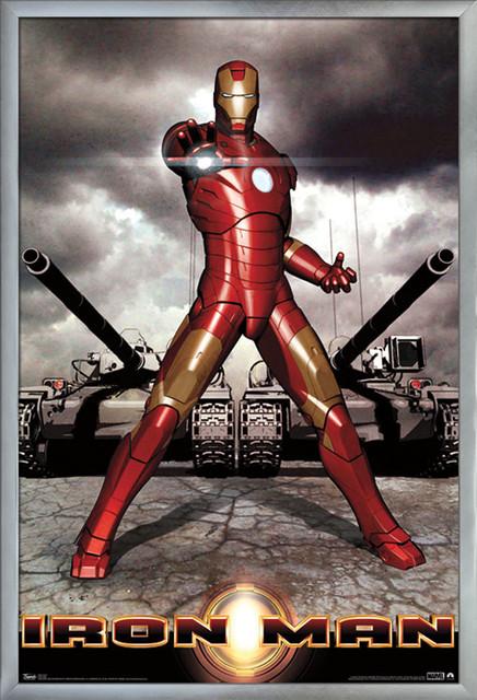 iron man poster silver framed version