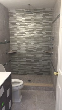 New bathroom. Out with the tub in with the walk in shower