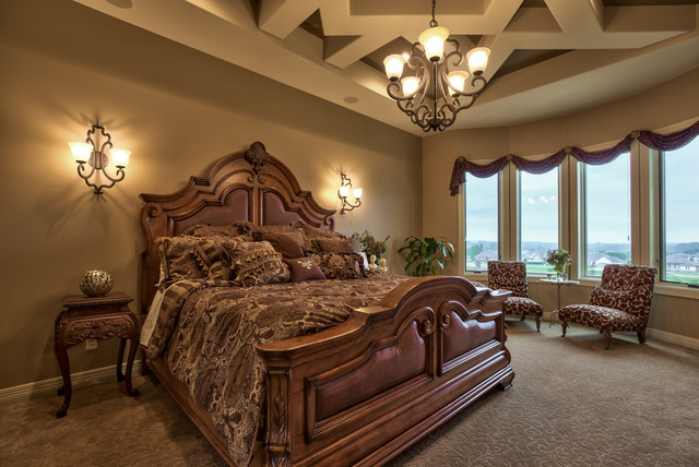 Street Of Dreams Tuscan Villa Mediterranean Bedroom