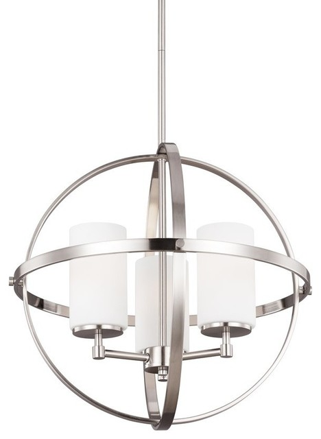 Sea Gull Lighting Alturas 3 Light Chandelier Brushed Nickel 3124603 962 Contemporary