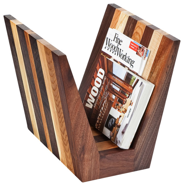 Hardwood Magazine Rack