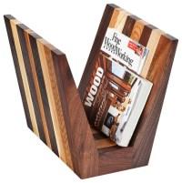 Hardwood Magazine Rack - Contemporary - Magazine Racks ...