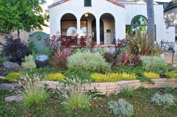 drought tolerant front yard - mediterranean