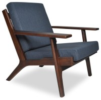 TB3 Home Olson Mid Century Modern Lounge Chair, Navy Blue ...