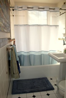 Before And After: Stylish And Streamlined Small Bathroom ( Photos)