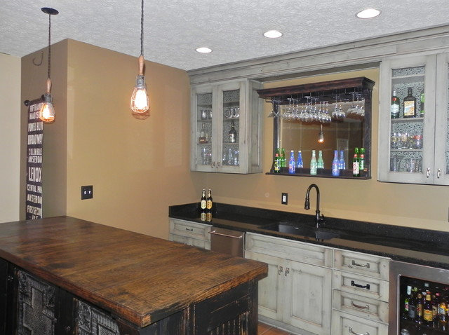 Bar Areas Eclectic Basement Indianapolis By The