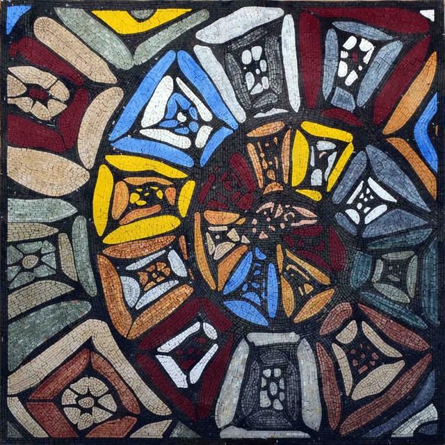 abstract mosaic art kaleidoscope 41 x41