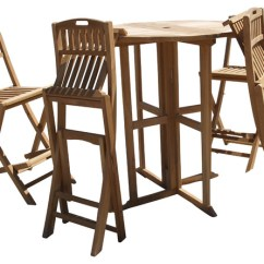 Teak Folding Chairs Canada 8 Chair Dining Table 39 Nassau Round Dropleaf Bar With 4 Grade A Craftsman Outdoor Pub And Bistro Sets By Windsor Furniture