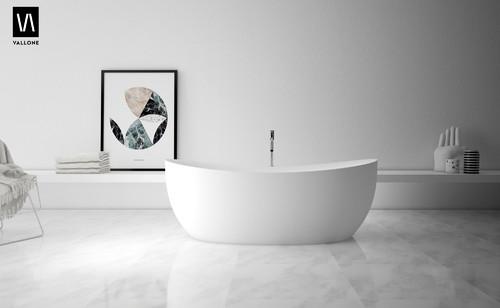 Freistehende Badewanne & kleines Bad