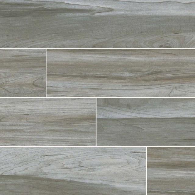 carolina timber gray ceramic wood look tile 6 x24 tiles set of 80