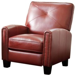 Red Recliner Chairs Childrens Bean Bag Abbyson Living Catalina Pushback Leather Transitional By