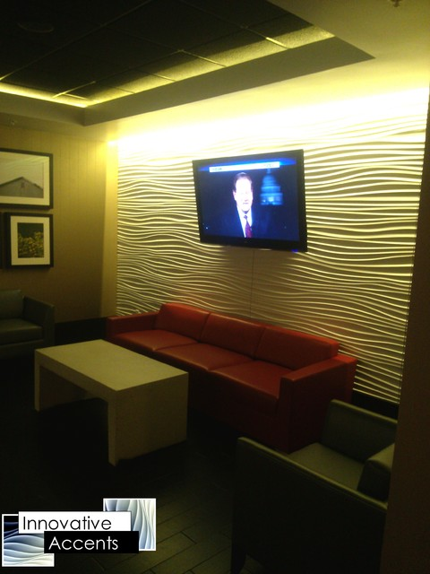 Accent Wall Paneling  Contemporary  Basement  Phoenix  by Innovative Accents