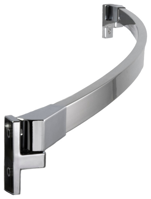 42 to 62 adjustable curved shower rod polished chrome